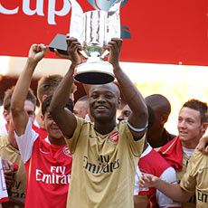 William Gallas has finally showed he can play together with Kolo Toure