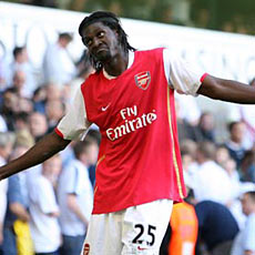 He doesn't look it, but Adebayor says he is more focused without Henry