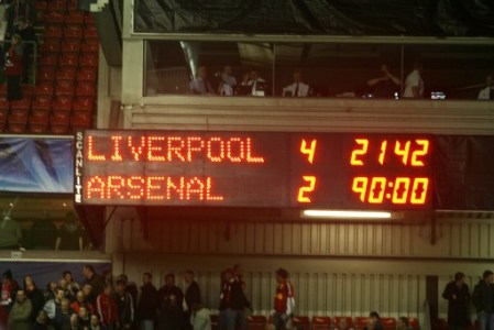 The final score at Anfield did not represent how close Arsenal were to progressing