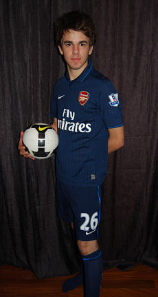 Panda Bear models the new Arsenal kit