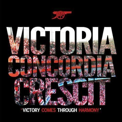 Arsenal Tattoos Quotes Victory Concordia Crescit