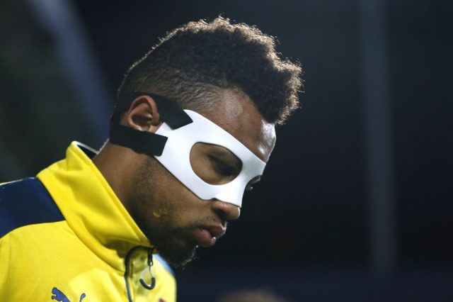 Arsenal Players With Masks Francis Coquelin