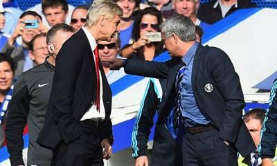 Arsene Wenger and Jose Mourinho in a wrangle