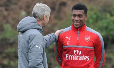 Alex Iwobi and Wenger