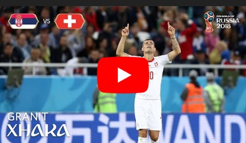 Video: Watch Granit Xhaka's Thunderbolt Goal Against Serbia