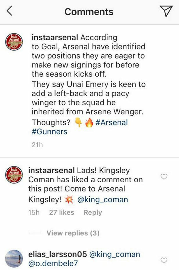 Arsenal Fan Account Comment