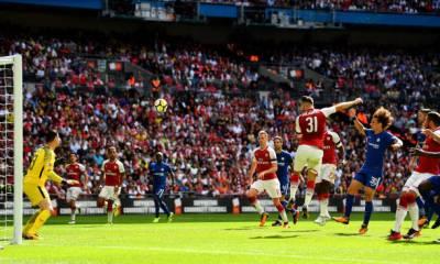 Sead Kolasinac scores against Chelsea