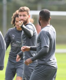 Mustafi at the training grounds