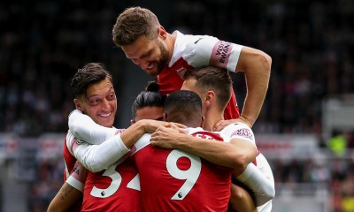 Arsenal Players Celebrating