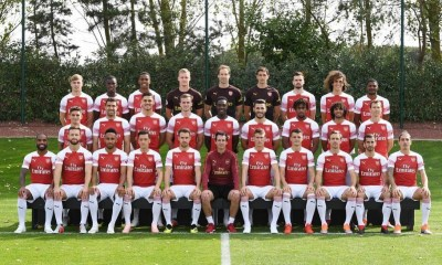 Arsenal 2018/19 Squad Photo