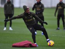 ST ALBANS, ENGLAND - NOVEMBER 10: of Arsenal during a training session at London Colney on November 10, 2018 in St Albans, United Kingdom. (Photo by Stuart MacFarlane/Arsenal FC via Getty Images)