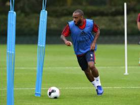 ST ALBANS, ENGLAND - JULY 06: Alex Lacazette of Arsenal during a training session at London Colney on July 06, 2019 in St Albans, England. (Photo by Stuart MacFarlane/Arsenal FC via Getty Images)
