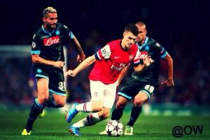 Aaron - not playing but still the focus of Arsenal-Stoke rivalry