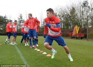 Gabriel going through his paces