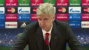 Arsene speaks after Champions League defeat.