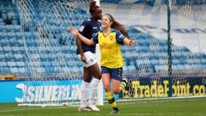 Carla Humphrey celebrates her goal