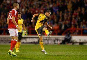 Grant Xhaka opens the scoring for Arsenal