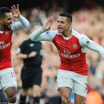 Goals from Alexis Sanchez (2) and new Father Theo Walcott secure 3-1 win for Arsenal