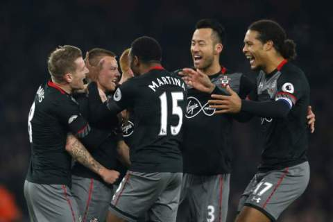Arsenal exit EFL Cup as the Saints go marching on