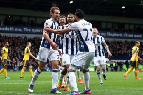 Baggies trouser three points as Arsenal fold to another Premier League defeat