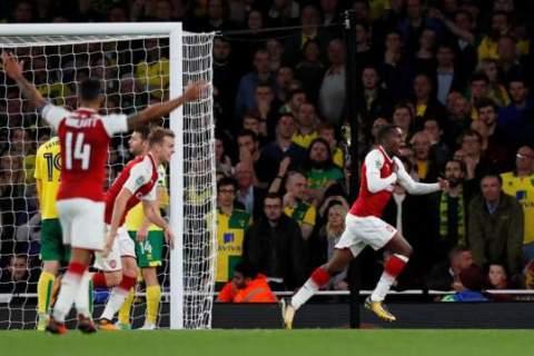 Super-sub Eddie Nketiah scores twice to send Arsenal through