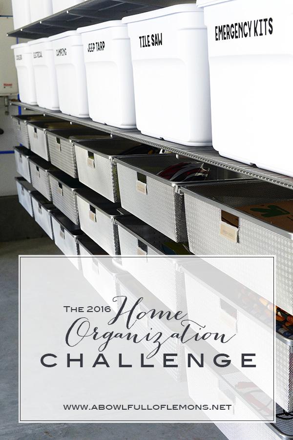 The 2016 Home Organization Challenge