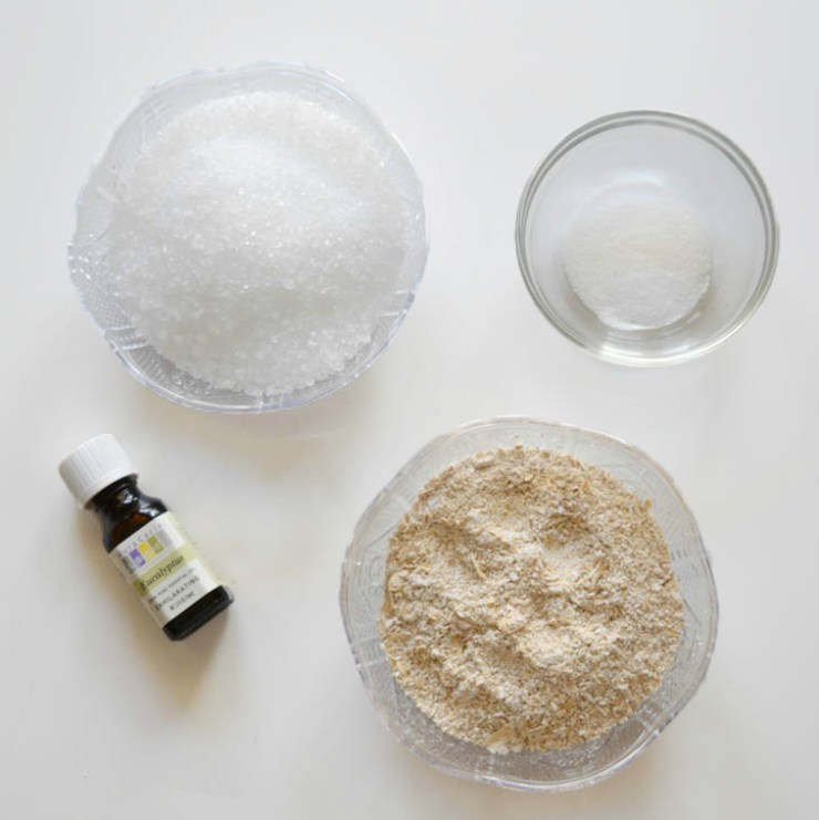 Homemade Eucalyptus Oatmeal Bath Salts
