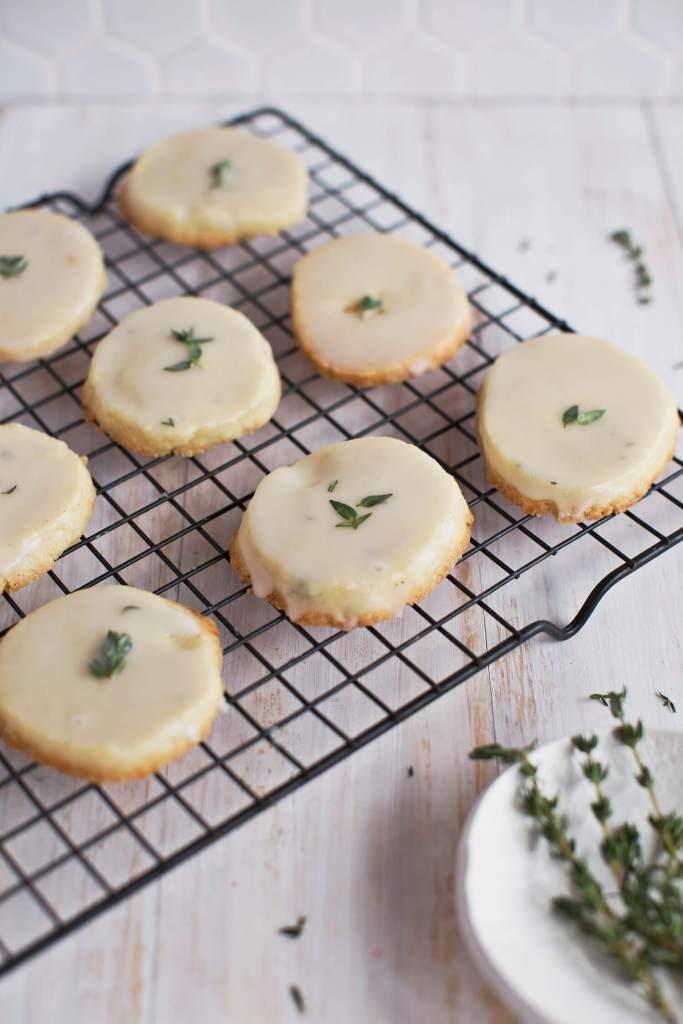 Glazed Vanilla and Thyme Cookies (Freezer Ready)