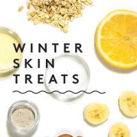 DIY Winter Skin Treats---Peach Banana Face Mask and Super Simple Almond Toner