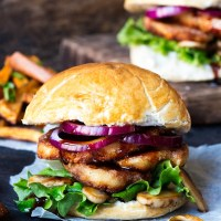 Try This---Halloumi Burgers With Sticky Sriracha Glaze