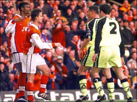 Controversy with Kanu and Overmars