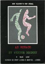The matchday programme, from Estadio de Luz, Porto