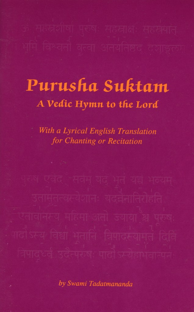 purusha suktam book and CD