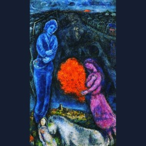 Marc Chagall - Saint-Paul de Vance at Sunset