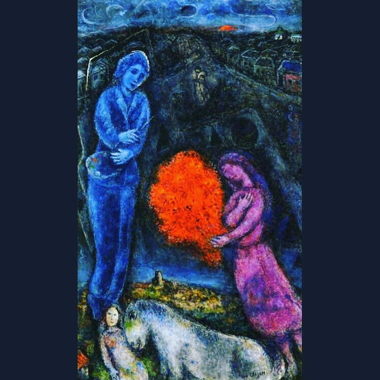 Marc Chagall - Saint-Paul de Vance at Sunset