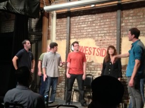 My good friends from improv class Gerard and Alex (alas, not pictured) were in The Draft this Monday, at Westside Comedy.