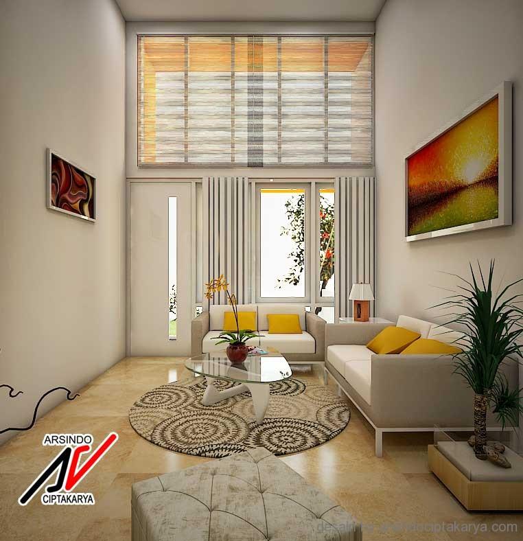 Desain Interior Ruang Tamu Kecil Sederhana