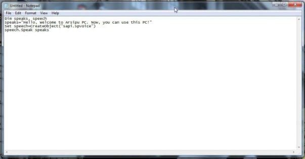 Membuat script dari Notepad