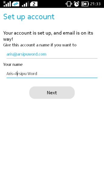 beri identitas email