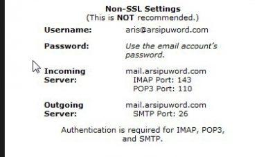 non ssl setting