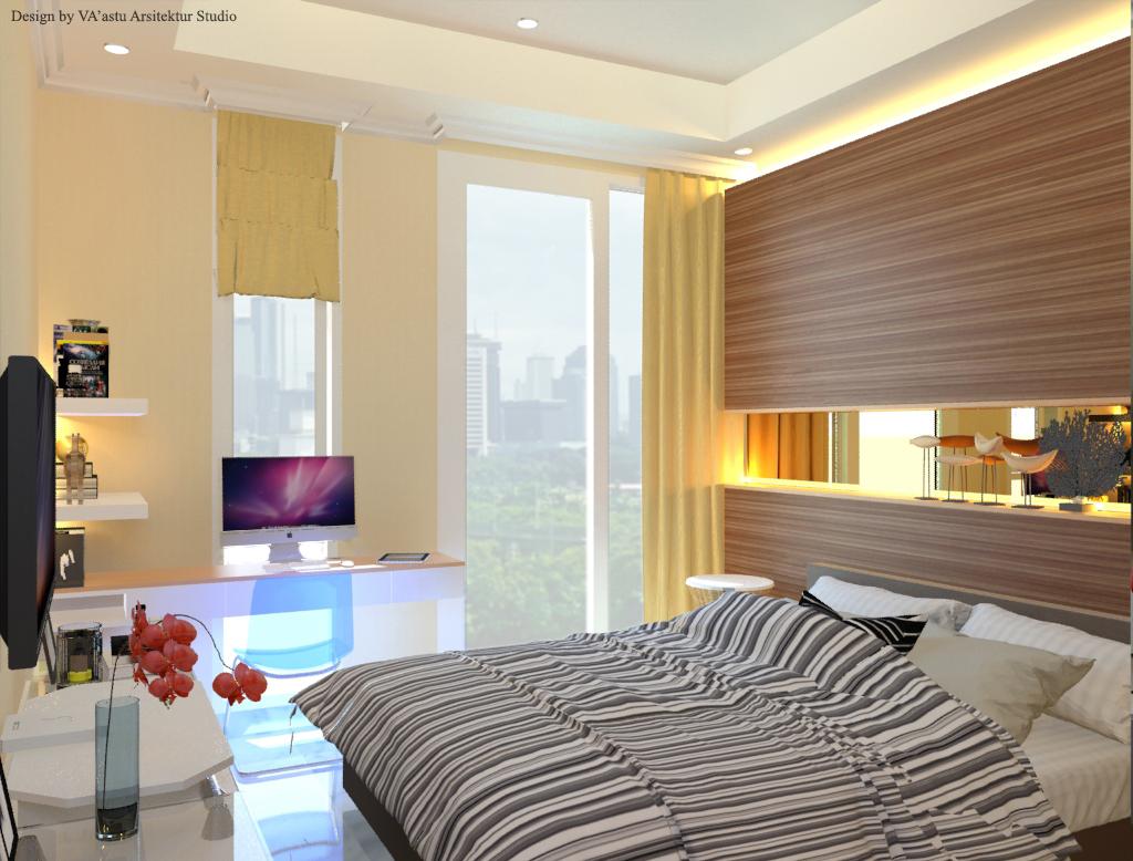 Desain Kamar Tidur Tamu  Sudirman  Jakarta Selatan  VA