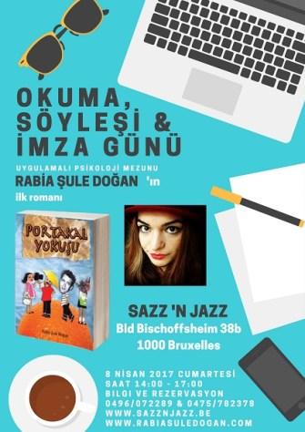 Rabia Şule Doğan'ın ilk romanı 'Portakal  Yokuşu' bugün SazzNJazz'da tanıtılacak