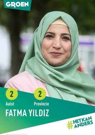Aalst Belediye Meclisi Flaman yeşiller Groen listesi 2. Sıra ve Doğu Flaman Bölgesi Eyaleti 2. Sıra adayı Fatma Yıldız: Ayrımcılıkla mücadele, birlikte yaşama katkı ve yoksullukla mücadele etmek istiyorum