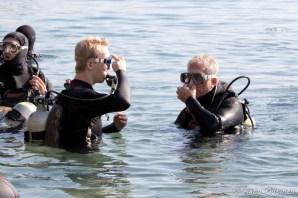 Sukellussysteemit valmiina ja paikallaan, joko mennään?