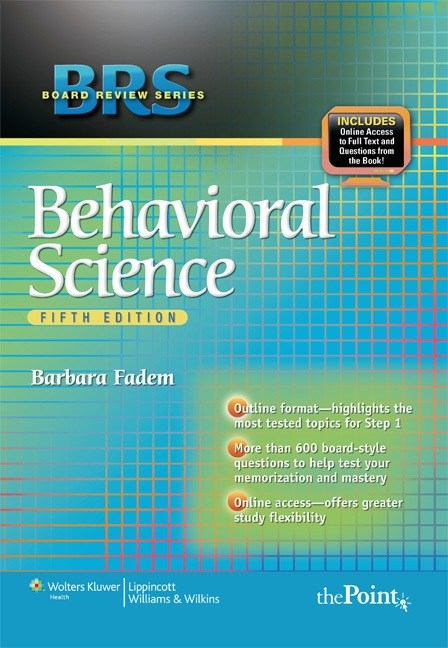 Brs behavioral science 7th edition pdf.