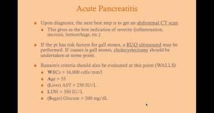 Pancreatitis - Medical Review Series