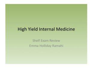 High Yield Internal Medicine PDF