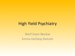 High Yield Psychiatry PDF