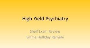 High Yield Psychiatry PDF
