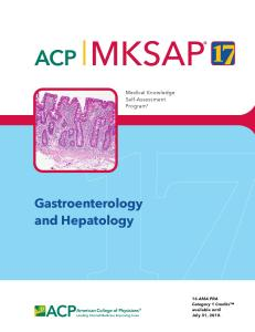 MKSAP 17 Gastroenterology and Hepatology PDF